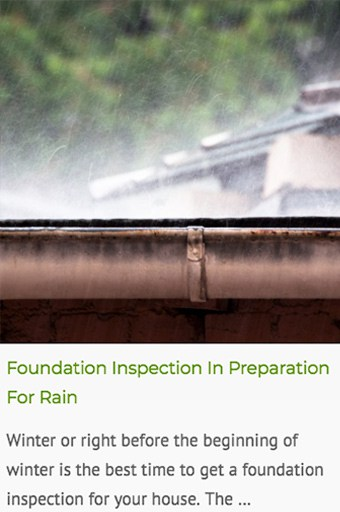 foundation inspection for water damage