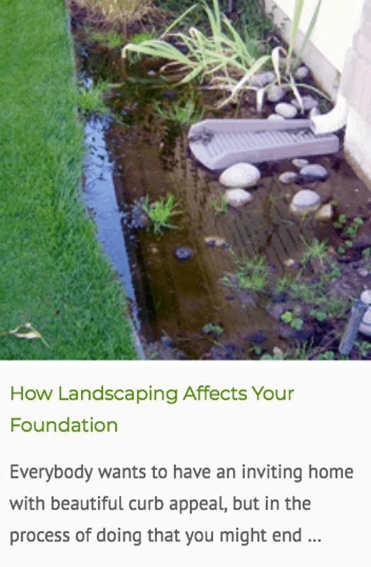 landscaping and foundation issues blog post